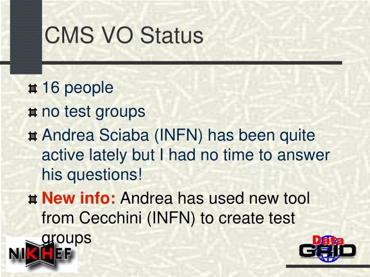CMS VO Status