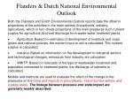 flanders dutch national environmental outlook