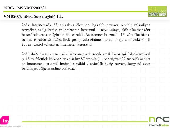 NRC-TNS VMR2007/1