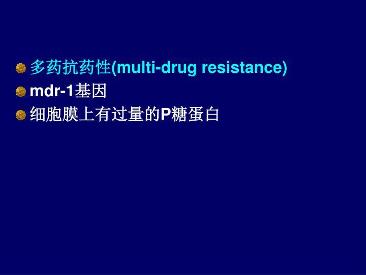多药抗药性(