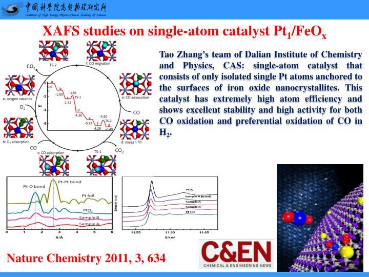 XAFS studies on single-atom catalyst Pt