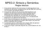 mpeg 2 sintaxis y sem ntica reglas b sicas