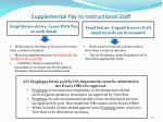 supplemental pay to instructional staff