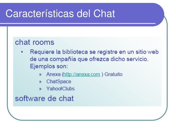 Características del Chat