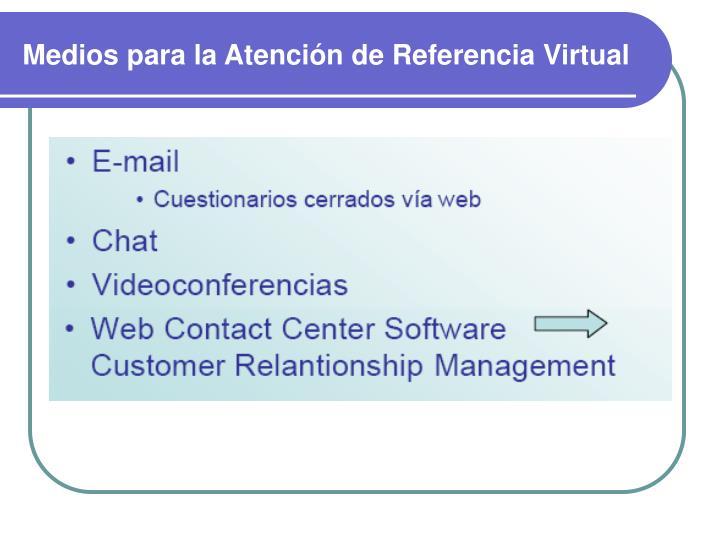 Medios para la Atención de Referencia Virtual
