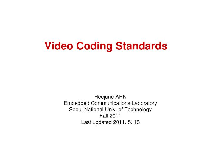 video coding standards