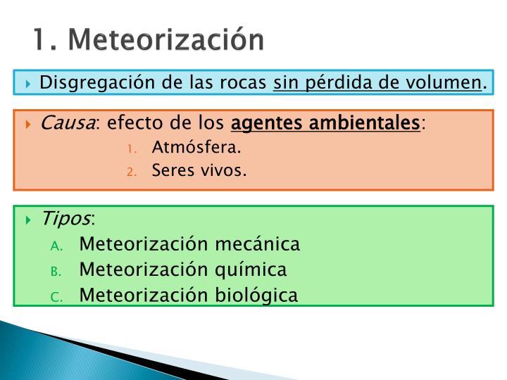1. Meteorización