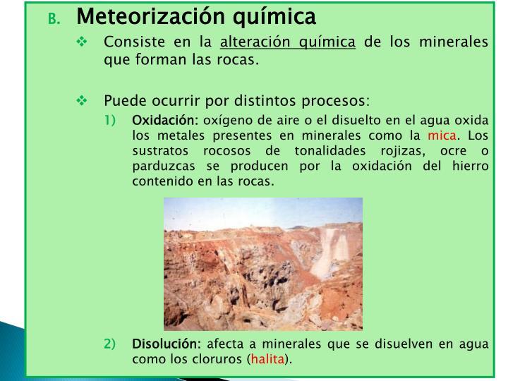 Meteorización química
