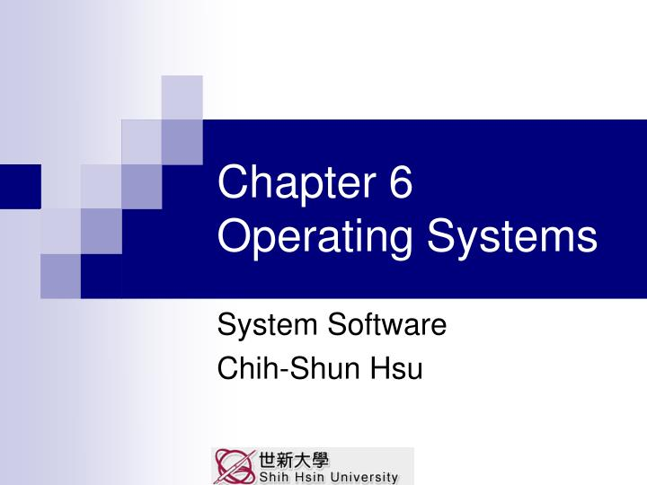 chapter 6 operating systems n.