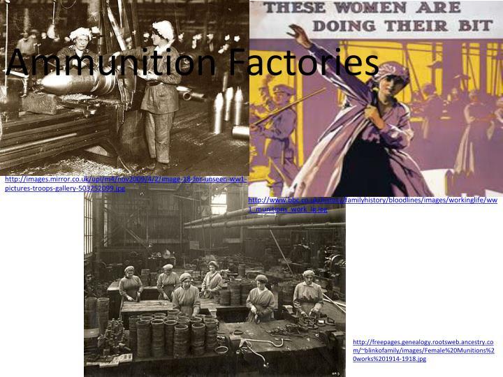 Ammunition Factories