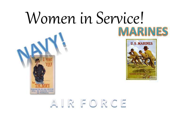 Women in Service!