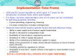 implementation time frame