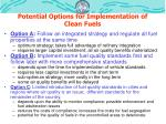 potential options for implementation of clean fuels