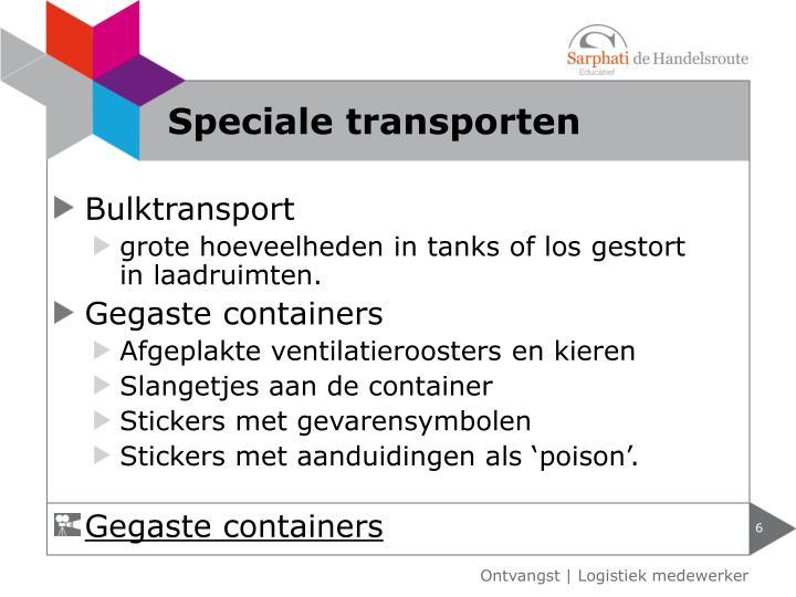 Speciale transporten