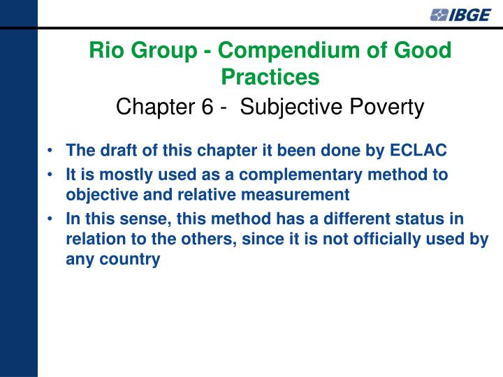 The draft of this chapter it been done by ECLAC