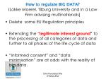 how to regulate big data lokke moerel tilburg university and in a law firm advising multinationals