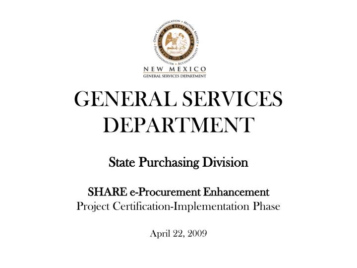 general services department n.
