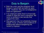 duty to bargain