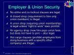 employer union security