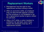 replacement workers