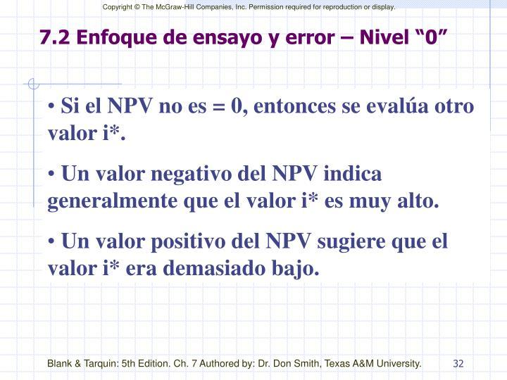 """7.2 Enfoque de ensayo y error – Nivel """"0"""""""
