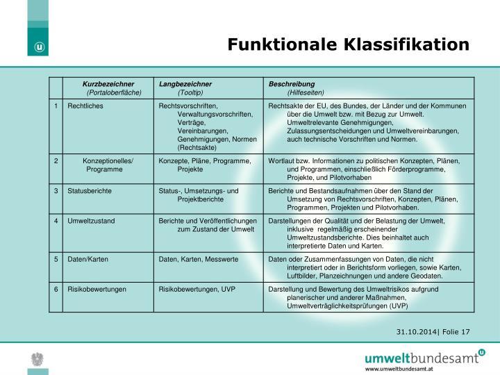 Funktionale Klassifikation