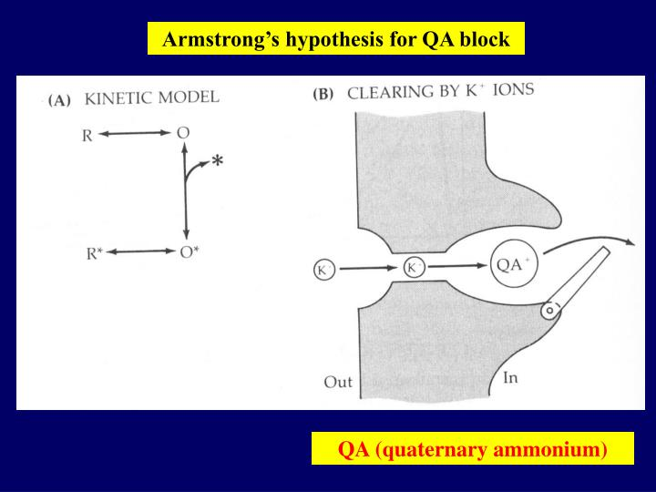 Armstrong's hypothesis for QA block