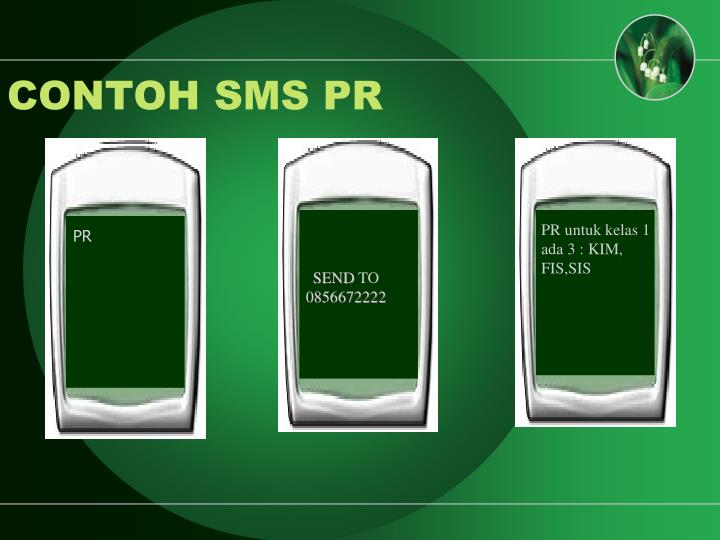 CONTOH SMS PR