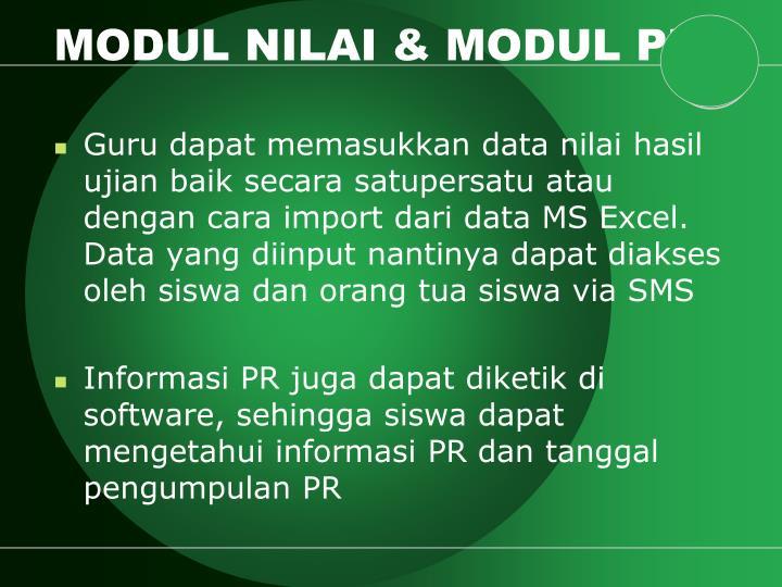 MODUL NILAI & MODUL PR