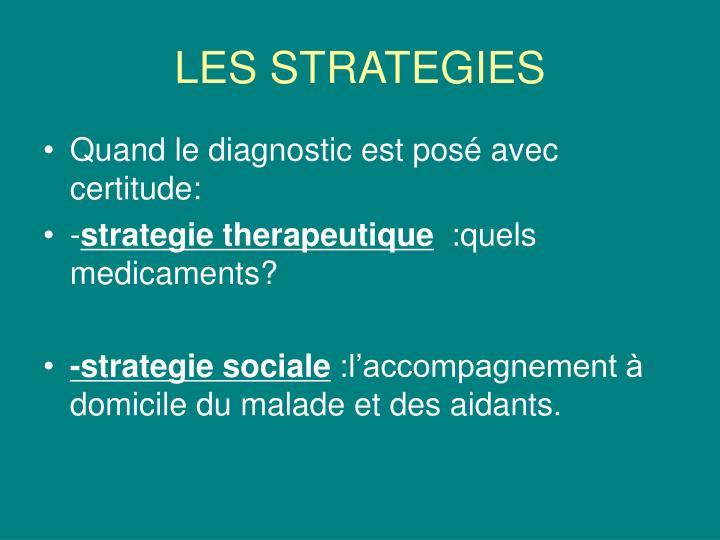 LES STRATEGIES