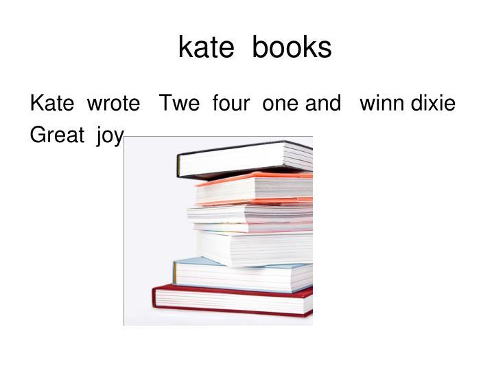 kate  books
