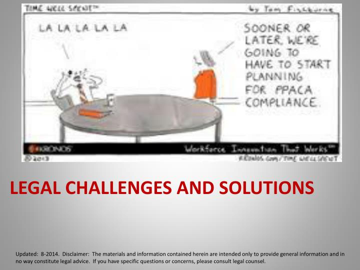 Legal Challenges and Solutions