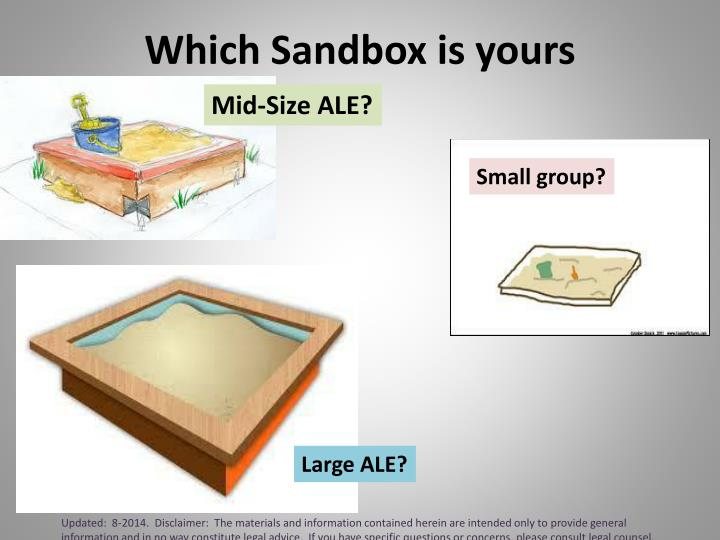 Which Sandbox is yours