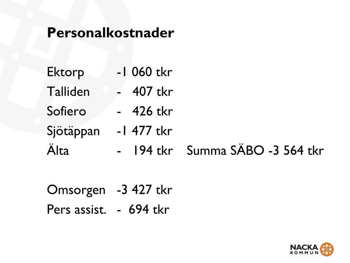 Personalkostnader