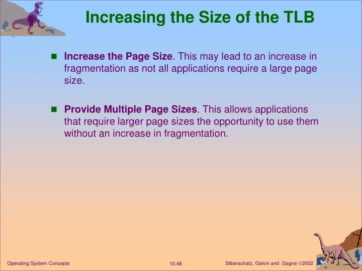 Increasing the Size of the TLB