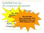 gender part one do women have less aptitude1