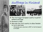 suffrage in finland