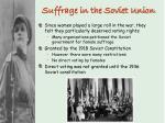 suffrage in the soviet union