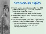 women as spies