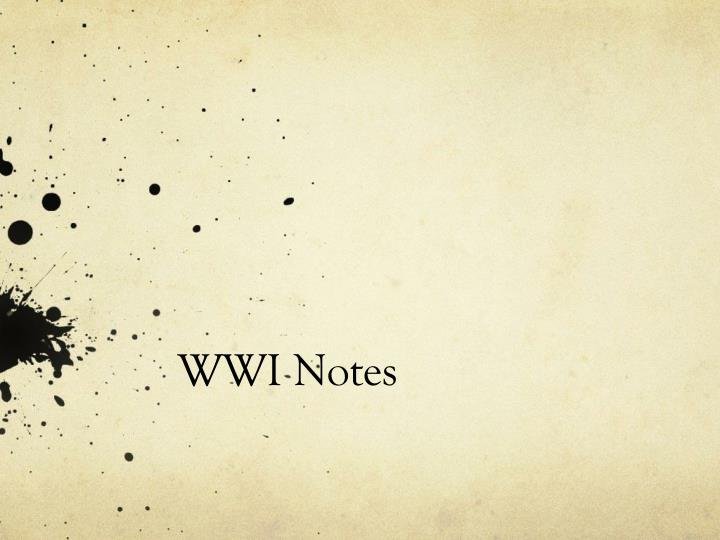 wwi notes n.