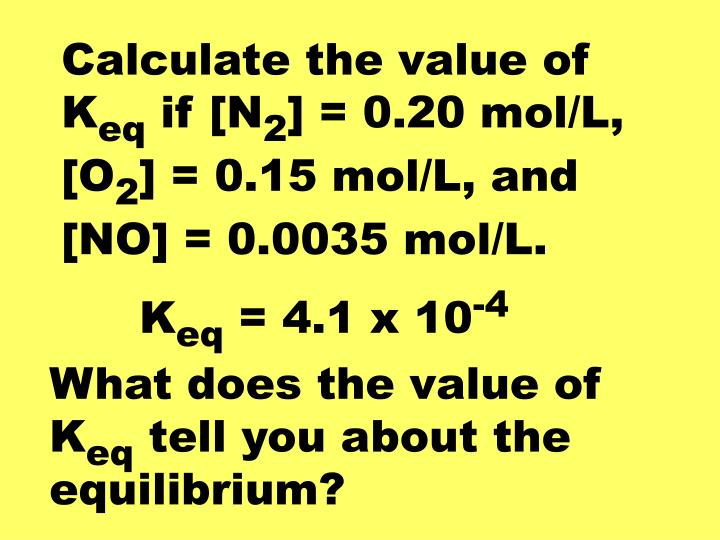 Calculate the value of K