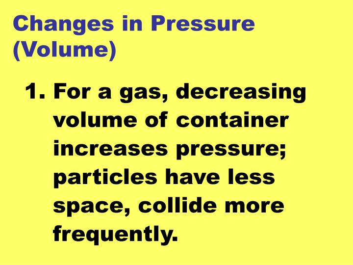 Changes in Pressure (Volume)