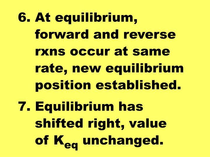 6. At equilibrium,