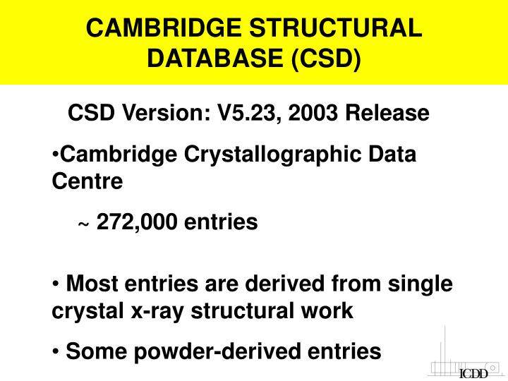 CAMBRIDGE STRUCTURAL