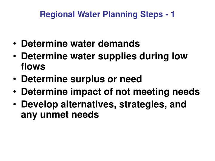 Regional Water Planning Steps - 1