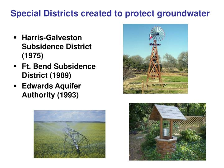 Special Districts created to protect groundwater