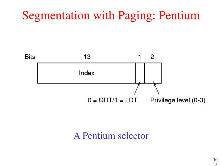 Segmentation with Paging: Pentium