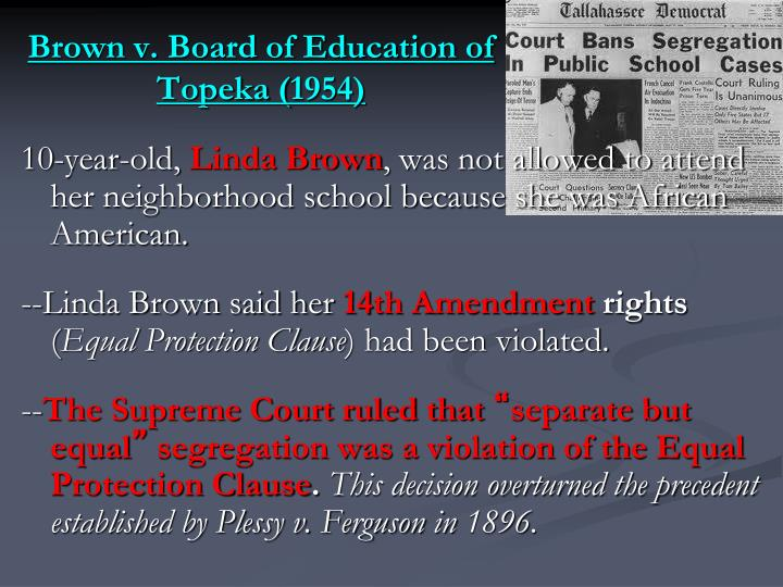 Brown v. Board of Education of Topeka (1954)