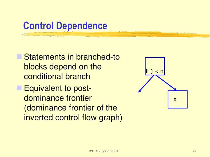 Control Dependence