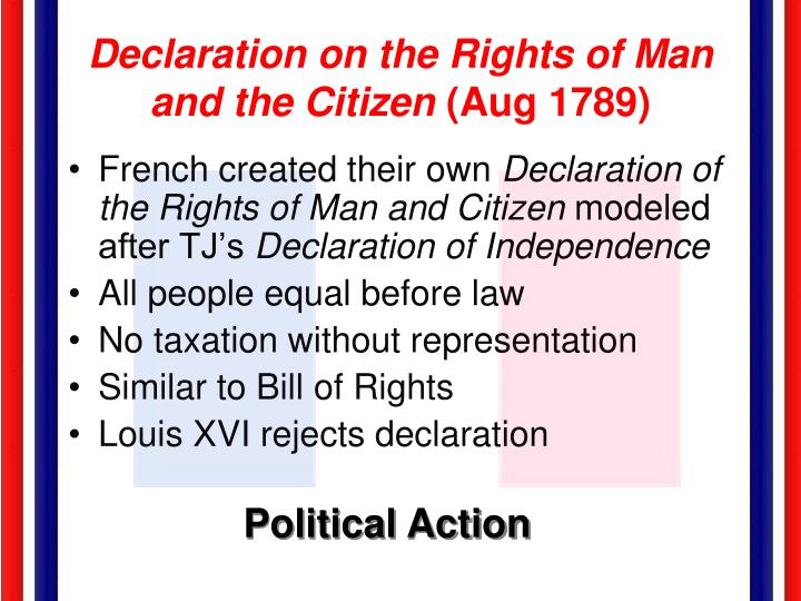 Declaration on the Rights of Man and the Citizen